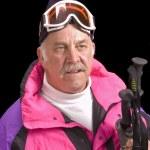 Baby-boomer skier — Stock Photo #11110070