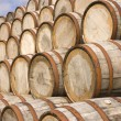Stock Photo: Barrels in distillery
