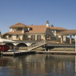 Executive house on the water — Stock Photo