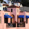 Stock Photo: Colorful home on esplanade in Capitola, California
