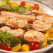 Stock Photo: Shrimp on skwer