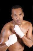 非洲裔美国拳击手 — 图库照片
