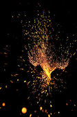 Scintille esplosiva — Foto Stock