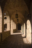 Arches of the cloister — Stock Photo