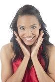 Beautiful young african american woman smiling — Stock Photo