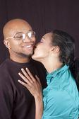 Happy african-american couple — Stock Photo