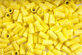 Yellow wire nuts — Stock Photo