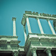 Detail of Roman Theatre, Merida, Spain - Stock Photo