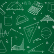Mathematics - school supplies, geometric shapes and expressions - Imagen vectorial