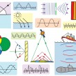 Physics - oscillations and waves phenomena — Imagens vectoriais em stock