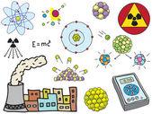 Physics - atomic nuclear energy — Stock Vector
