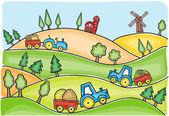 Illustration of harvest time — Stock Vector