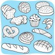 bakery products — Stock Vector