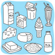 Diary and milk products - Stock Vector
