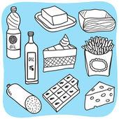 жиры и масла - рисунок — Cтоковый вектор