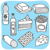 脂肪和油-绘图 — 图库矢量图片