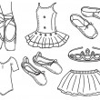 Постер, плакат: Set of ballerina accessories