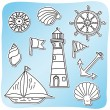 Set of sea icons — Stock Vector