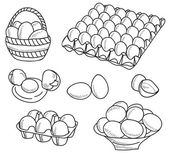 Illustration of eggs — Stockvector
