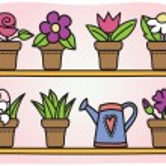 Flowers in pots illustration — Stock Vector #11800201