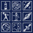Stock Vector: Space and astronomy icons