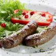 Roasted sausages — Stock Photo