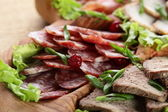 Sliced peaces of meat — Stock Photo