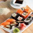Fresh and tasty sushi - Stock Photo