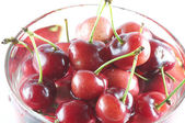 A cup of cherry — Stock Photo
