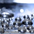 Cold droplets on the surface of stainless steel — Stock Photo