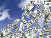 Dollars rain — Stock Photo