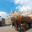 Horse Drawn Carriage Grote Markt Antwerp — Stock Photo