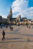 Antwerp Groenplaats Square — Stock Photo