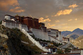 Potala Palace Angled Sunset Lhasa Tibet — Stock Photo