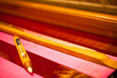 Hand Loom Shuttle Pink Textile — Stock Photo