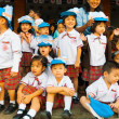 Stock Photo: Young Asian Thai Children Uniform Watch Parade