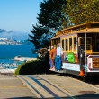 Powell Hyde Cable Car Alcatraz San Francisco - Stock Photo