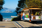 Powell Hyde Cable Car Alcatraz San Francisco — Stok fotoğraf