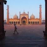Dawn Jama Masjid Main Mosque Delhi Framed — Stock Photo