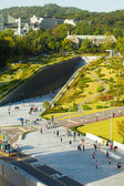 Ewha Womans University Campus Complex Aerial V — Stock Photo