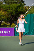Magdalena Rybarikova Walking Baseline — Stock Photo