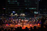 Seoul Summer Orchestra Concert Street Traffic — Stock Photo