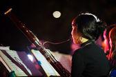 Korean Woman Symphany Orchestra Bassoon — Stock Photo