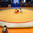 Stock Photo: Korean Wrestling Ssireum Aerial Ring Start
