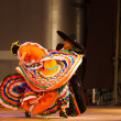 Stock Photo: Jalisco MexicHat Dancing Swirling Orange Dress