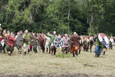 Attacking Vikings at Moesgaard — Stock Photo
