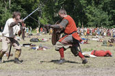 Fighting Vikings - Sword Fight — Stock Photo