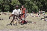 Fighting Vikings - Worrior Hit — Stock Photo
