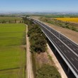 Aerial view of motorway — Stock Photo #11572618