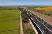 Aerial view of motorway — Stock Photo